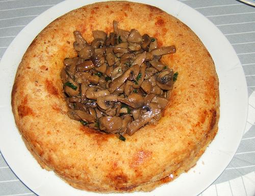 Corona di patate con funghi trifolati