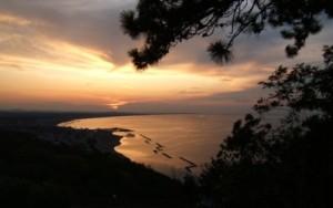 Tramonto sul mare da Gabicce Monte