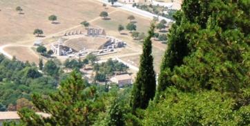 Il teatro romano visto dal Monte Ingino