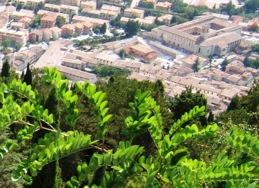Gubbio visto dal Monte Ingino