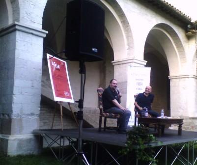 Carlo Lucarelli e Marino Sinibaldi