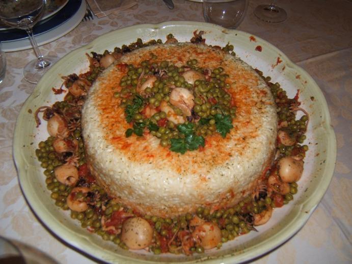 Corona di riso con seppioline