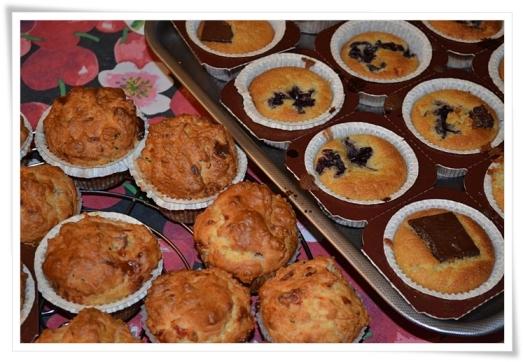 Muffins dolci e salati