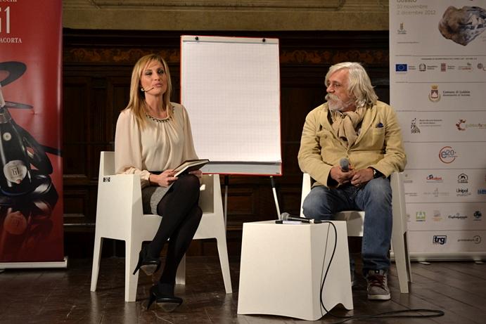 Chiara Giallonardo e lo chef-scrittore Fabio Picchi