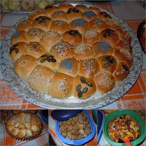 pane,polpette,verdure