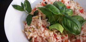 risotto con verdure estive