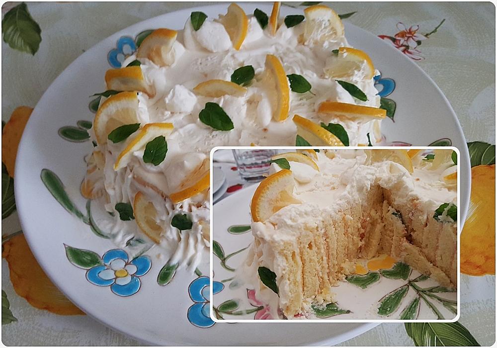 torta al limone e menta