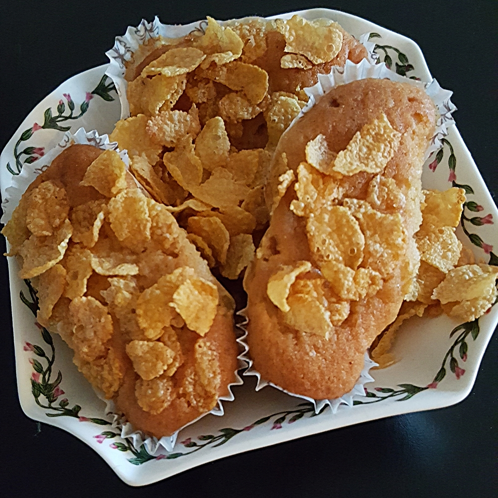 Mini plumcake con corn flakes