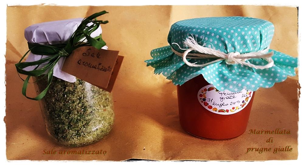 Sale aromatizzato e Marmellata di prugne gialle