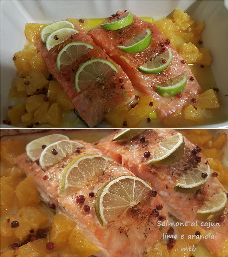 Salmone al cajun, lime e arancia