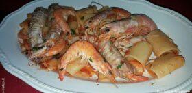 PACCHERI di Gragnano con sughetto di seppia e crostacei