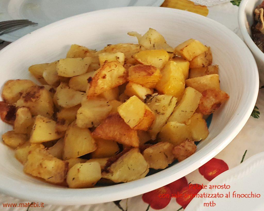 Patate arrosto con sale aromatizzato al finocchio
