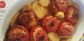 Pomodori ripieni di riso con patate mtb